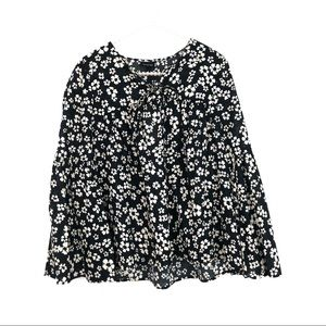 WHO WHAT WEAR Floral Peasant Bell Sleeve T…